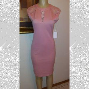 Between Us Elegant Pastel Pink Event Dress